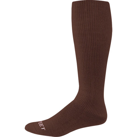 Pro Feet 273-275 Knee High Multi-Sport Cushioned Tube - Brown - Basketball, Baseball Apparel, Soccer, Softball Apparel, Football - Hit A Double