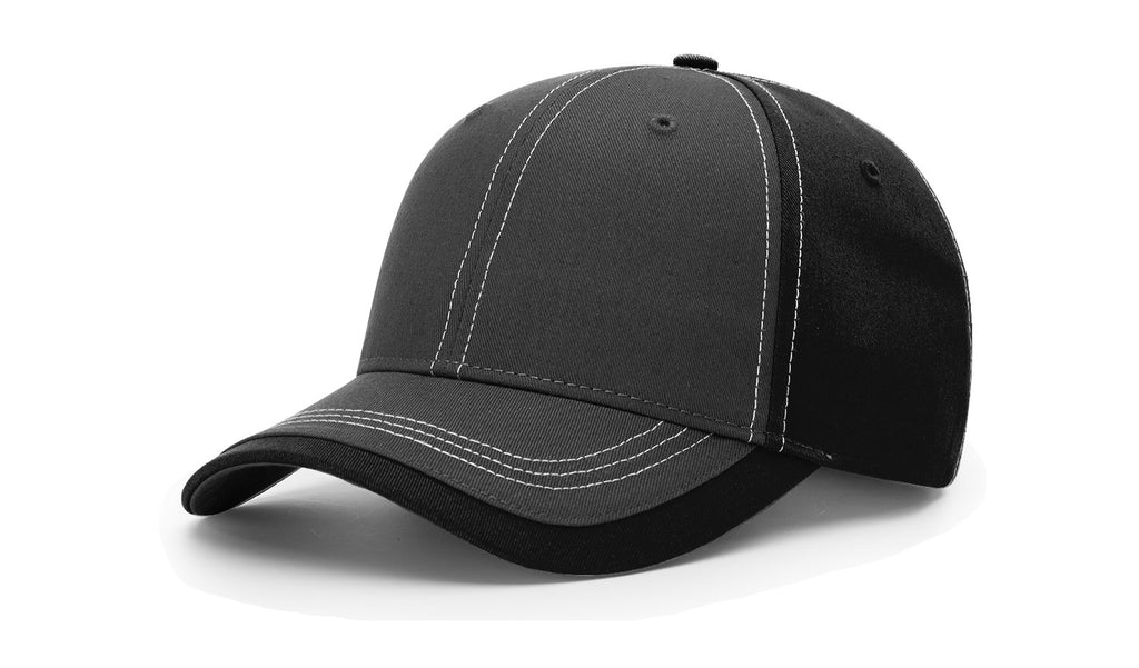 Richardson 275 Charcoal Front W/ Contrast Stitching Cap - Charcoal Black