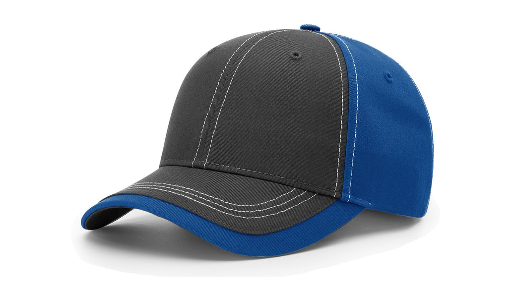 Richardson 275 Charcoal Front W/ Contrast Stitching Cap - Charcoal Royal