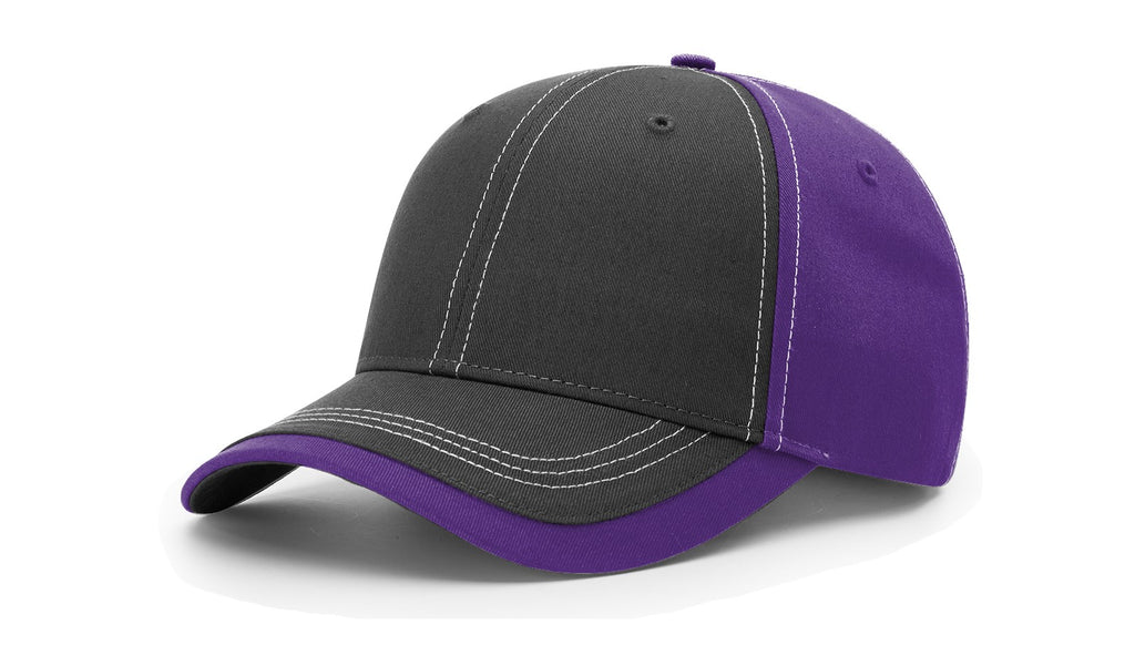 Richardson 275 Charcoal Front W/ Contrast Stitching Cap - Charcoal Purple