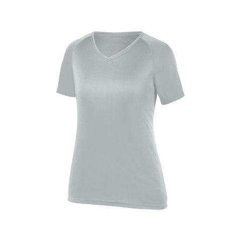 Augusta 2792 Ladies Attain Wicking Shirt - Silver