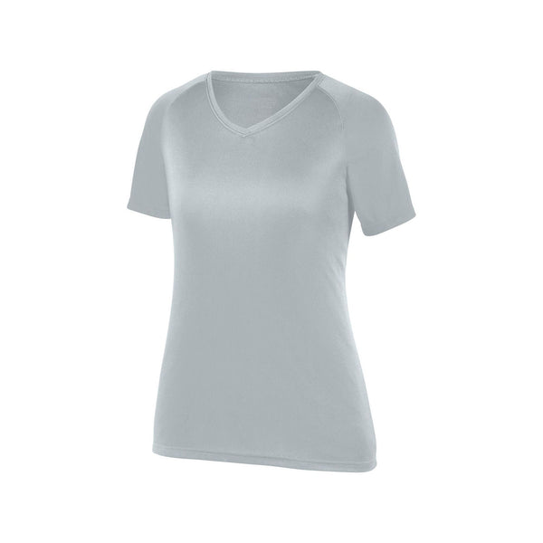 Augusta 2793 Girls Attain Wicking Shirt - Silver