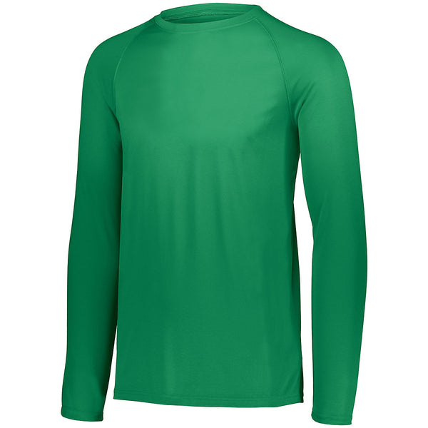 Augusta 2796 Youth Attain Wicking Long Sleeve Shirt - Kelly