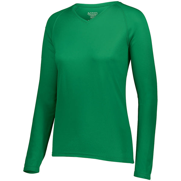 Augusta 2797 Ladies Attain Wicking Long Sleeve Shirt - Kelly