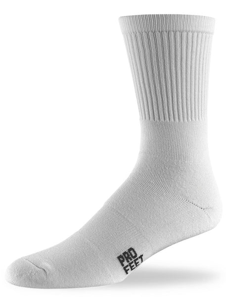 Pro Feet 285/3 Crew 3 Pack - White - Basketball, Baseball Apparel, Soccer, Softball Apparel, Football, Casual Wear, Training/Running - Hit A Double