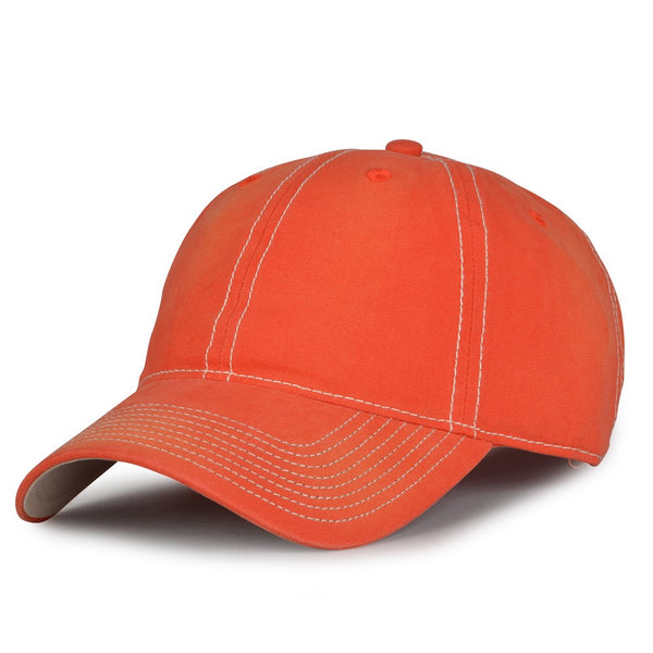 The Game GB439 Enzyme Washed Canvas Cap - Orange