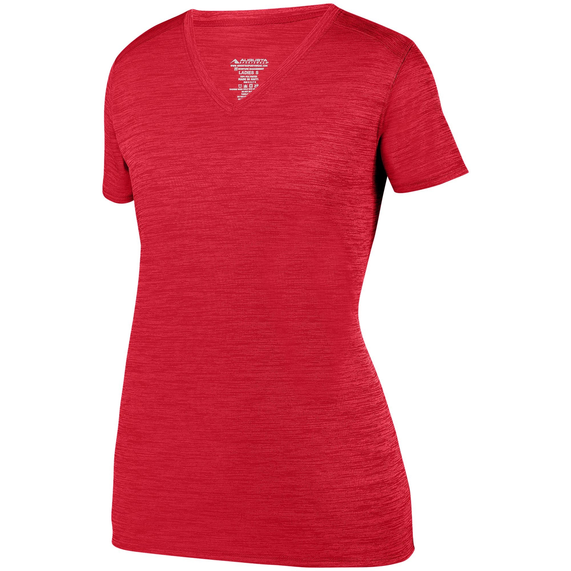 Augusta 2902 Ladies Shadow Tonal Heather Training Tee - Red - HIT A Double