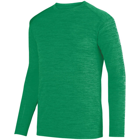 Augusta 2903 Shadow Tonal Heather Long Sleeve Tee - Kelly