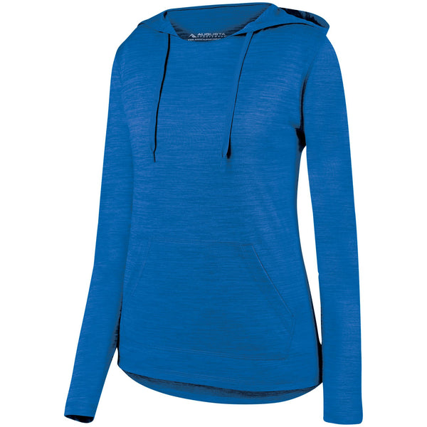 Augusta 2907 Ladies Shadow Tonal Heather Hoody - Royal