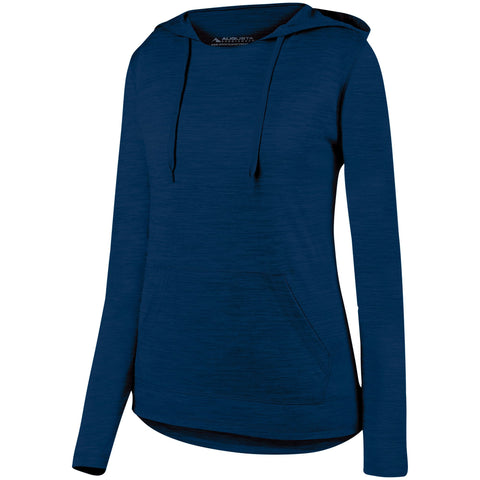 Augusta 2907 Ladies Shadow Tonal Heather Hoody - Navy