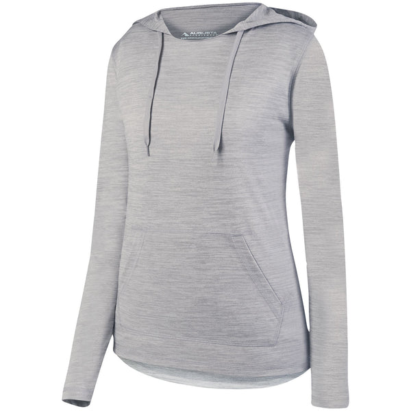 Augusta 2907 Ladies Shadow Tonal Heather Hoody - Silver