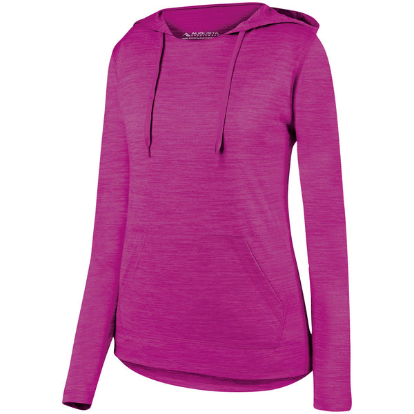 Augusta 2907 Ladies Shadow Tonal Heather Hoody - Power Pink