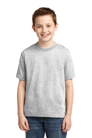 Jerzees 29B Youth Dri-Power 50/50 Cotton/Poly T-Shirt - Ash - HIT A Double