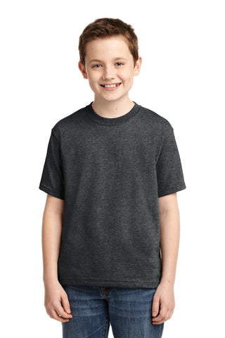 Jerzees 29B Youth Dri-Power 50/50 Cotton/Poly T-Shirt - Black Heather - HIT A Double