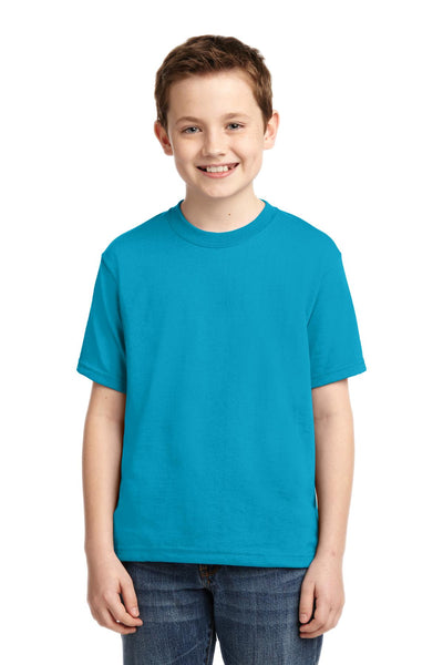 Jerzees 29B Youth Dri-Power 50/50 Cotton/Poly T-Shirt - California Blue - HIT A Double