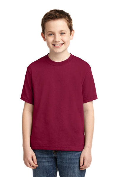 Jerzees 29B Youth Dri-Power 50/50 Cotton/Poly T-Shirt - Cardinal - HIT A Double