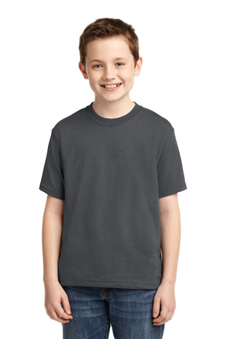 Jerzees 29B Youth Dri-Power 50/50 Cotton/Poly T-Shirt - Charcoal Gray - HIT A Double