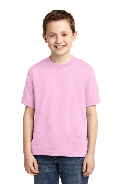 Jerzees 29B Youth Dri-Power 50/50 Cotton/Poly T-Shirt - Classic Pink - HIT A Double