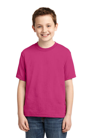 Jerzees 29B Youth Dri-Power 50/50 Cotton/Poly T-Shirt - Cyber Pink - HIT A Double