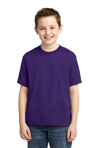 Jerzees 29B Youth Dri-Power 50/50 Cotton/Poly T-Shirt - Deep Purple - HIT A Double