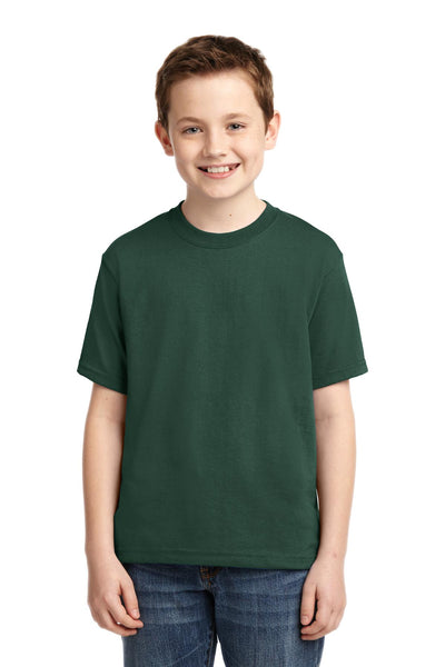 Jerzees 29B Youth Dri-Power 50/50 Cotton/Poly T-Shirt - Forest Green - HIT A Double