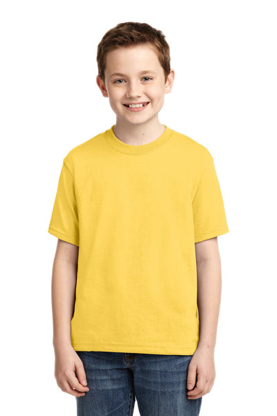 Jerzees 29B Youth Dri-Power 50/50 Cotton/Poly T-Shirt - Island Yellow - HIT A Double