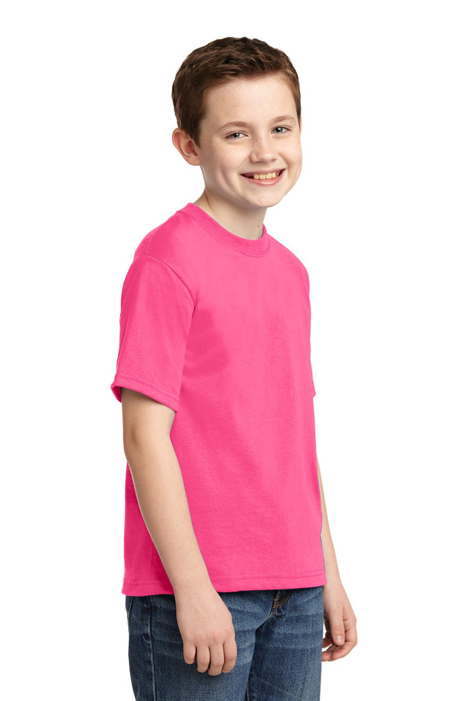 Jerzees 29B Youth Dri-Power 50/50 Cotton/Poly T-Shirt - Neon Pink - HIT A Double