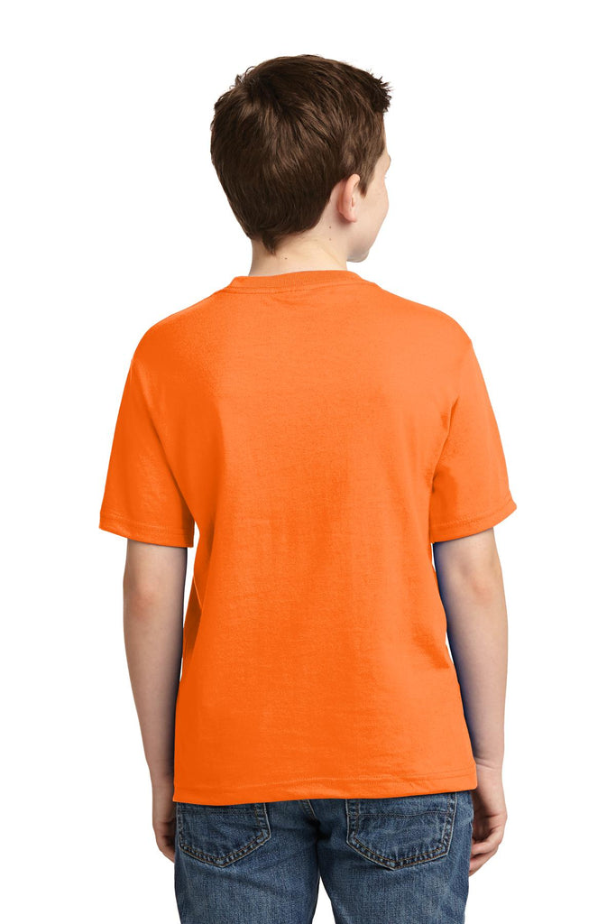 Jerzees 29B Youth Dri-Power 50/50 Cotton/Poly T-Shirt - Safety Orange - HIT A Double