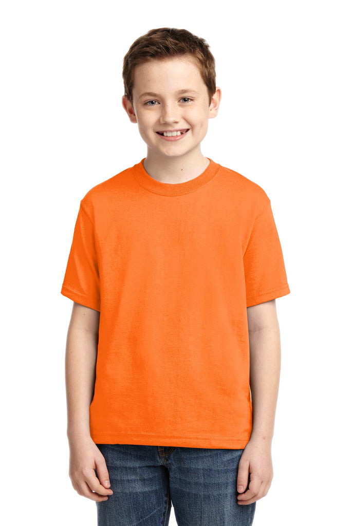 Jerzees 29B Youth Dri-Power 50/50 Cotton/Poly T-Shirt - Safety Orange