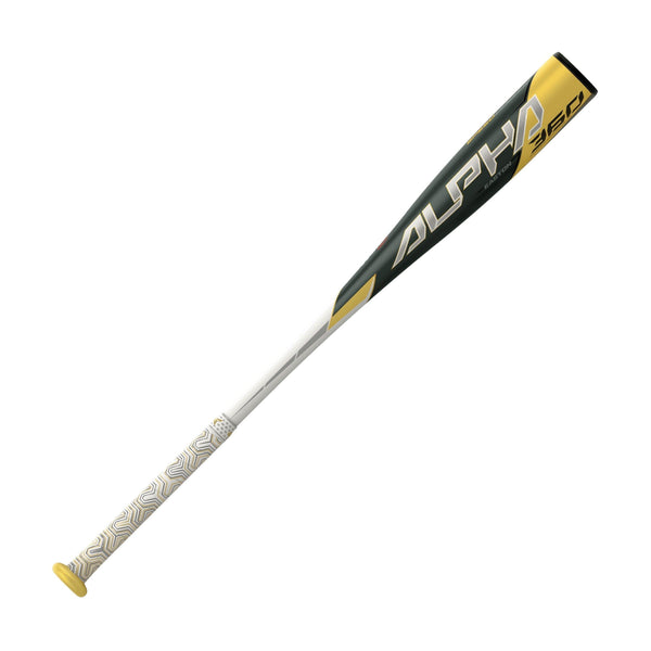 "Easton 2020 Alpha 360 (-13) USA Approved Bat 2 1/2"" - White Gold - HIT A Double"