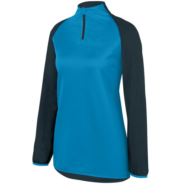 Augusta 3622 Ladies Record Setter Pullover - Slate Power Blue Heather