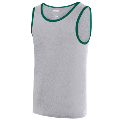 Augusta 182 Ringer Tank - Athletic Heather Dark Green