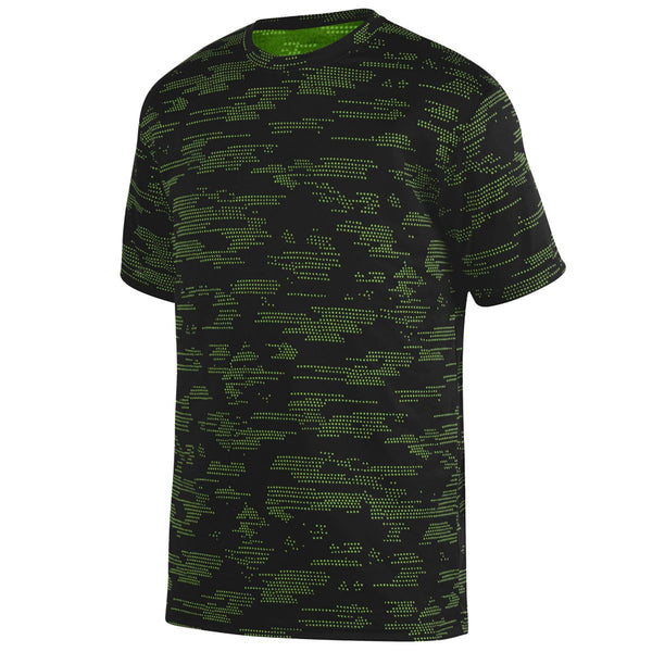 Augusta 1802 Sleet Wicking Tee Youth - Black Lime