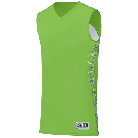 Augusta 1162 Hook Shot Reversible Jersey Youth - Lime Lime Digi