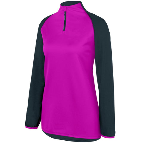 Augusta 3622 Ladies Record Setter Pullover - Slate Power Pink Heather