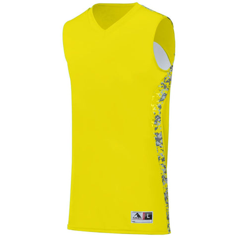 Augusta 1161 Hook Shot Reversible Jersey - Power Yellow Power Yellow Digi