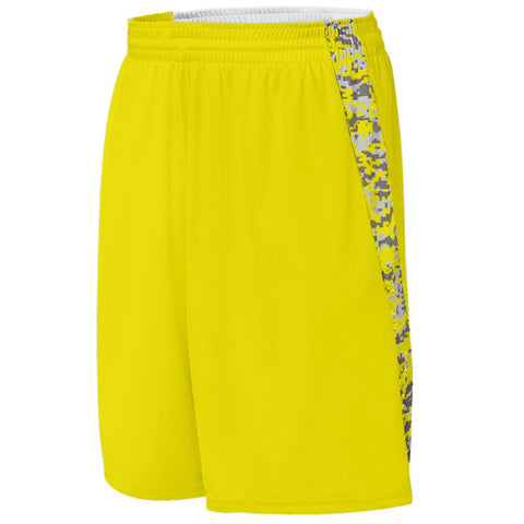 Augusta 1164 Hook Shot Reversible Short Youth - Power Yellow Power Yellow Digi