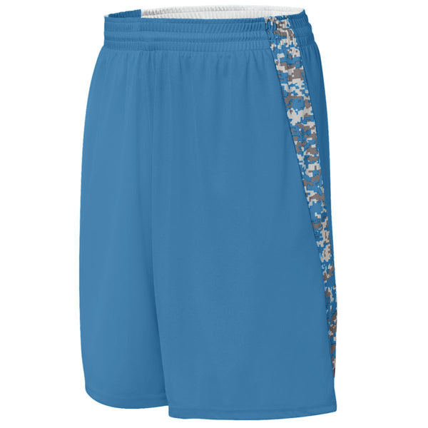 Augusta 1164 Hook Shot Reversible Short Youth - Columbia Blue Columbia Blue Digi