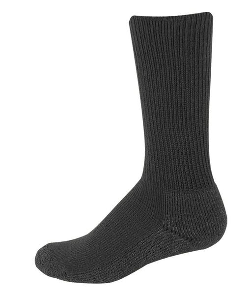 Pro Feet 205 Basic Uniform Boot Sock - Black - Work Wear - Hit A Double