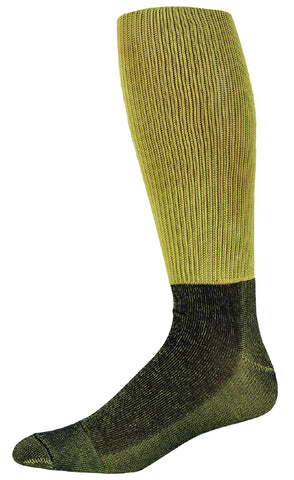 Pro Feet 3025 Kelvar Flame Resistant Crew - Gold with Black Foot - Work Wear - Hit A Double