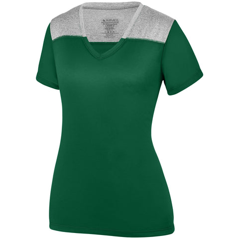 Augusta 3057 Ladies Challenge T-Shirt - Dark Green Graphite Heather