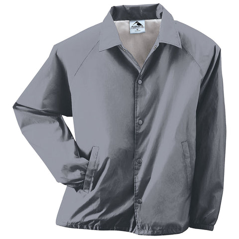 Augusta 3100 Nylon Coach's Jacket/Lined - Graphite - Baseball Apparel, Softball Apparel, Outerwear - Hit A Double