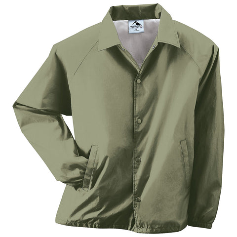 Augusta 3100 Nylon Coach's Jacket/Lined - Olive Drab Green - Baseball Apparel, Softball Apparel, Outerwear - Hit A Double