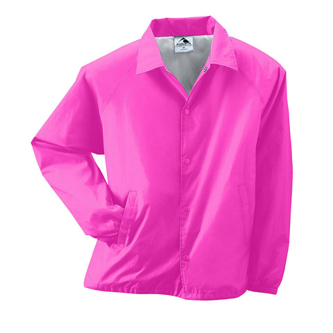 Augusta 3100 Nylon Coach's Jacket/Lined - Power Pink - Baseball Apparel, Softball Apparel, Outerwear - Hit A Double