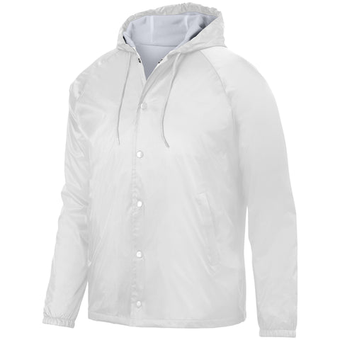 Augusta 3102 Hooded Coach'S Jacket - White