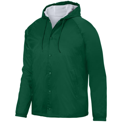 Augusta 3102 Hooded Coach'S Jacket - Dark Green