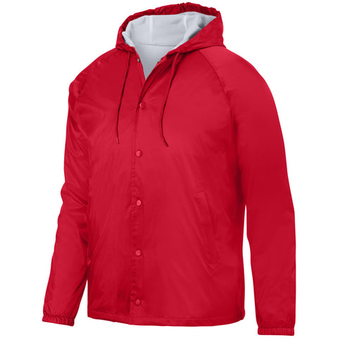 Augusta 3102 Hooded Coach'S Jacket - Red