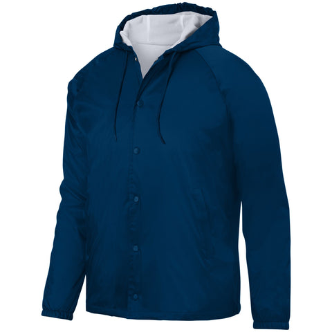 Augusta 3102 Hooded Coach'S Jacket - Navy