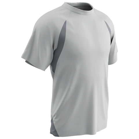 Champro BST6-BST6Y T-Shirt Jersey - White Gray