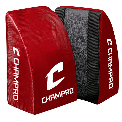 Champro CG28SC Catcher's Knee Support Youth Scarlet Pair - Scarlet